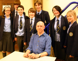David Thorpe with schoolkids in Sefton borough, Merseyside, May 2008