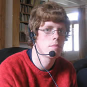 Peter Horne, playing Johnny Online