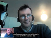 screengrab of webcast interview with rob hopkins and david thorpe
