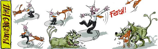 Managing Hell cartoon 11: 15.05.2006