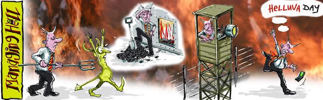 Managing Hell cartoon 13: 12.06.2006